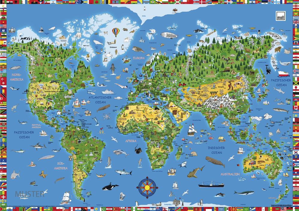 kirjutamisalus maailmakaart